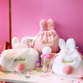 Yunikon - 毛毛小兔月包小袋/纸巾盒套/抽绳小袋/眼罩