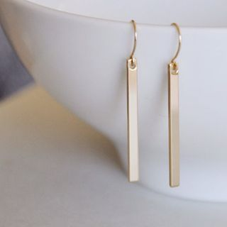 Gemsha - Bar Drop Earring