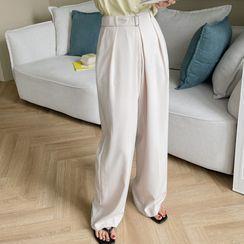 Envy Look - Buckled-Waist Dress Pants