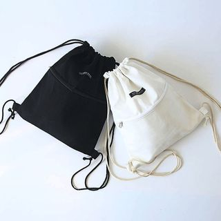 TangTangBags - Drawstring Canvas Backpack