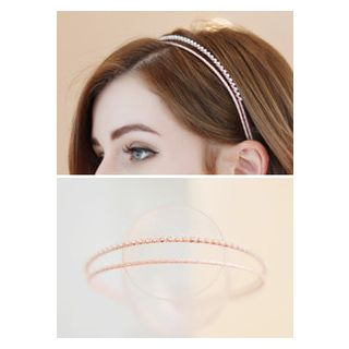 kitsch island - Rhinestone Layered Headband