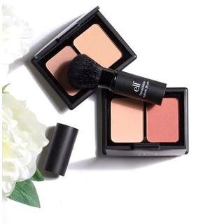 e.l.f. Cosmetics - Set:Contouring Blush & Bronzing Powder + Retractable Kabuki Brush