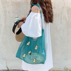 Milha - Fruit Embroidered Organza Tote Bag