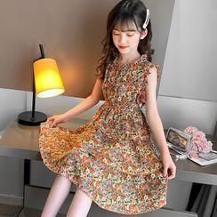 Island Puppies - Kids Sleeveless Floral Dress