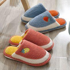 Ishanti - Embroidered Fleece Home Slippers