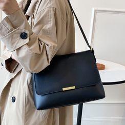 NewTown - Faux Leather Flap Shoulder Bag
