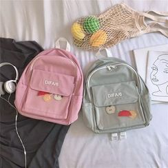 Anna Momo - Letter Nylon Backpack