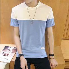Macho - Short-Sleeve Color Block T-Shirt