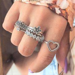 Alycia - 六件套裝: 合金戒指 (多款設計)