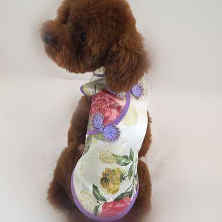 Fuminsho - Floral Print Cheongsam Pet Dress