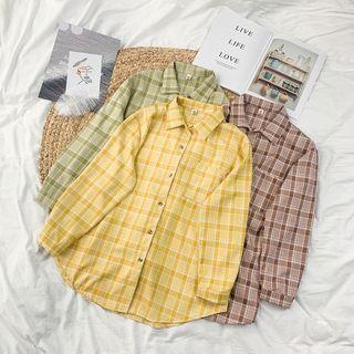 Sisyphi(シシピ) - Long-Sleeve Plaid Shirt