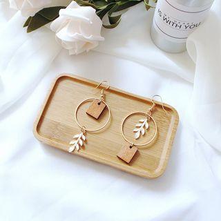 Kendra - 葉子木圈環耳環