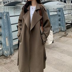 Hassel - Belted Open-Front Trench Coat