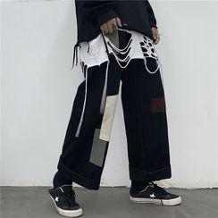 LINSI - 补丁直筒裤