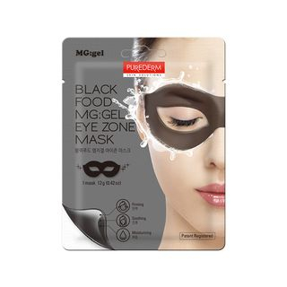 PUREDERM - Black Food MG:GEL Eye Zone Mask 1pc