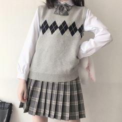 Chrystina - Plaid School Uniform Costume / Set