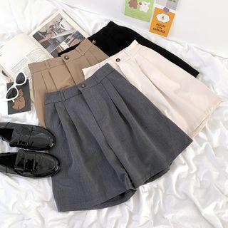 CaraMelody - 高腰纯色短裤