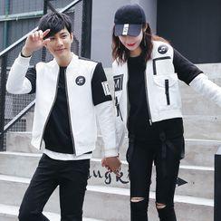 NoonSun - 情侣款拉链外套
