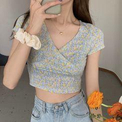 monroll - Short-Sleeve Floral Print Top