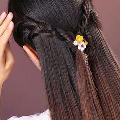 Gangnam - Faux Jade Flower Hair Tie