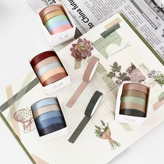 Little Planet - Set of 5: Plain Masking Tape (Various Colors)