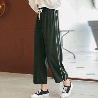 KOHKEI - Drawstring Cropped Pants