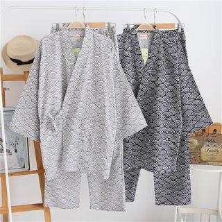 Somnus - Printed Kimono Pajama Set