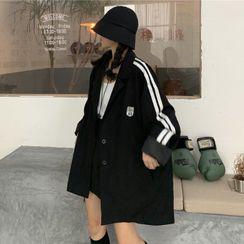 JIUHOJI - Striped Oversize Blazer