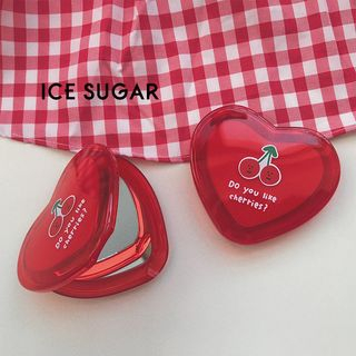 ICE SUGAR - Heart Shape Compact Makeup Portable Mirror
