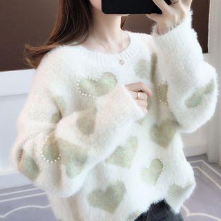Chrisinn - Heart Patterned Sweater
