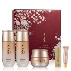 Sooryehan - Bichaek True-Rejuvenating Set: Toner 80ml + Emulsion 80ml + Cream 30ml + Essence 10ml + Eye Cream 6ml