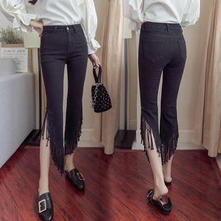 Denimot - Fringed Cropped Jeans