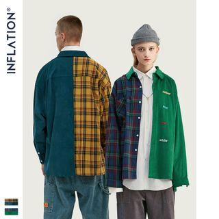 Newin - Couple Oversize Patchwork Shirt