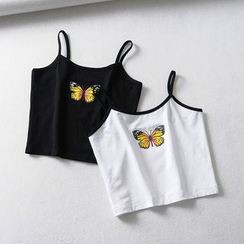 Femil - Butterfly Print Cropped Camisole