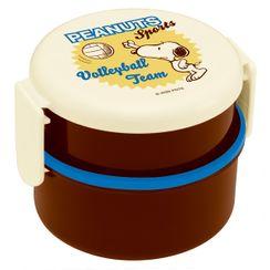 Skater - SNOOPY 圆形食物盒 500ml (内附叉) (运动/排球)