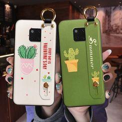 Maykrix - Cactus Print Hand Strap Phone Case - Huawei / Honor