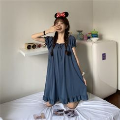 Whoosh - 短袖纯色家居服连衣裙