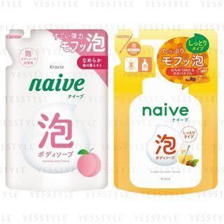 Kracie - Naive Foaming Body Wash Refill 450ml - 2 Types