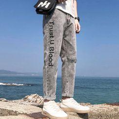 The Tings - 字母直身牛仔裤
