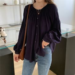 Moon City - Long-Sleeve Buttoned Blouse