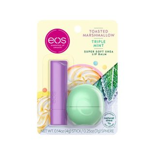 eos - Toasted marshmallow and triple mint stick and sphere lip balm