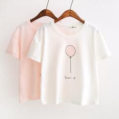 Angel Love - Bedrucktes T-Shirt