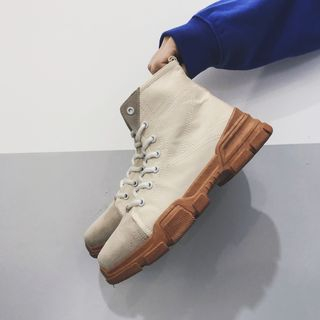 White City - Lace-Up Short Boots