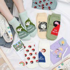 Baburu - Cartoon Print Socks