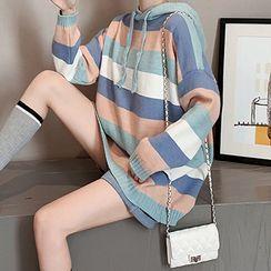 Bubble Pop - Striped Hood Sweater