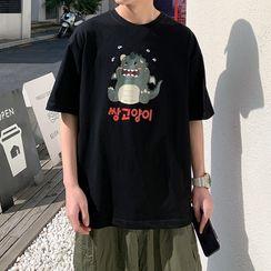 Filmas - 卡通印花短袖T裇