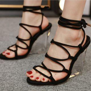 Niuna(二ウナ) - Strappy Wedge Sandals