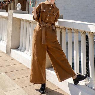 Ariadne - 长袖宽腿短款连体服