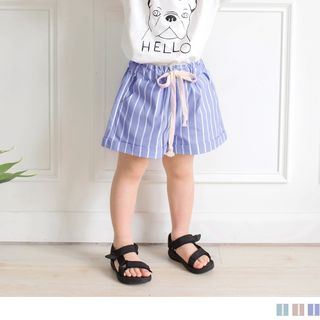OrangeBear - Kids Pinestriped Foldup Casual Shorts