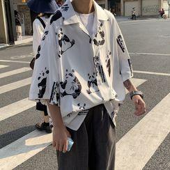 Phoneus - 中袖熊貓印花襯衫